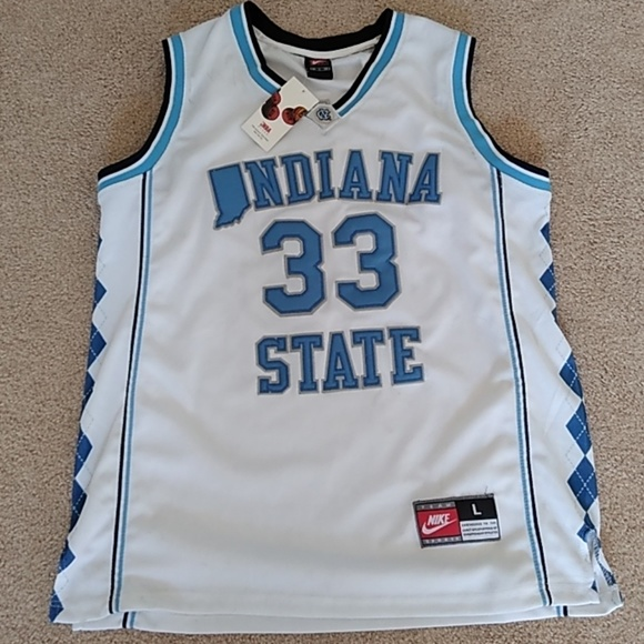 on sale 2f6dc 9cde0 Authentic Nike NC Larry Bird Indiana State jersey NWT